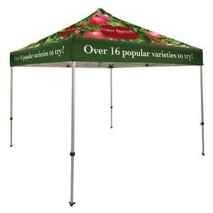 10' Square Event Tent Full-Color, FULL BLEED Dye Sublimation (8 Locations)