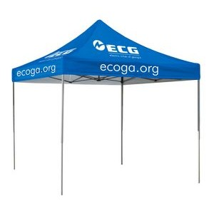 10' Square Event Tent Full-Color Dye Sublimation (4 Locations)