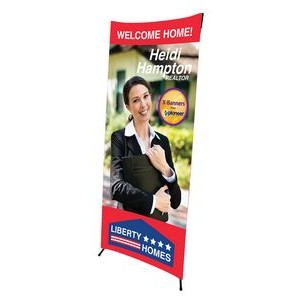 2.5 ft. W x 6 ft. H X-Banner (BANNER ONLY)