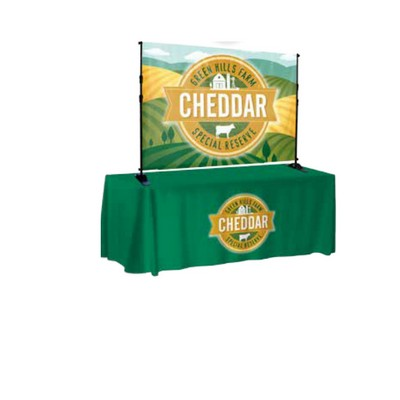 6 ft. W x 4 ft. H Table Top Backdrop Kit