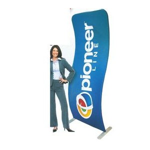 3 ft. W x 8 ft H 2-Sided Curved Banner Stand Kit